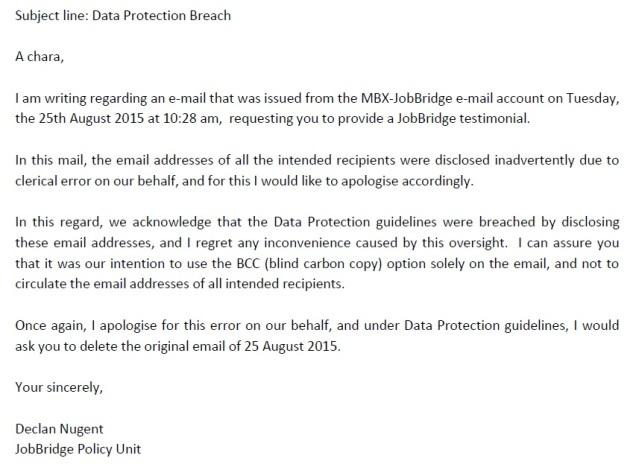 Data Protection Breach
